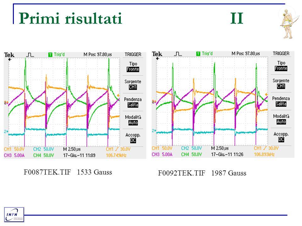 Primi risultatiII F0087TEK.TIF 1533 Gauss F0092TEK.TIF 1987 Gauss