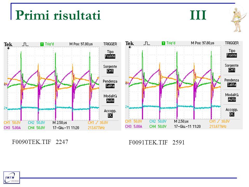 Primi risultatiIII F0090TEK.TIF 2247 F0091TEK.TIF 2591