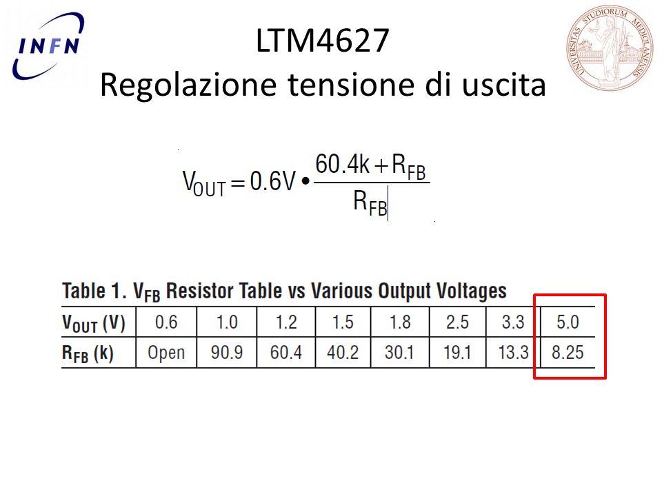 LTM4627 Regolazione tensione di uscita