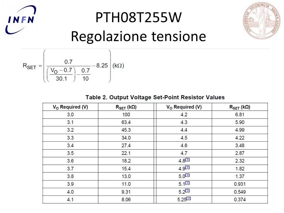 PTH08T255W Regolazione tensione