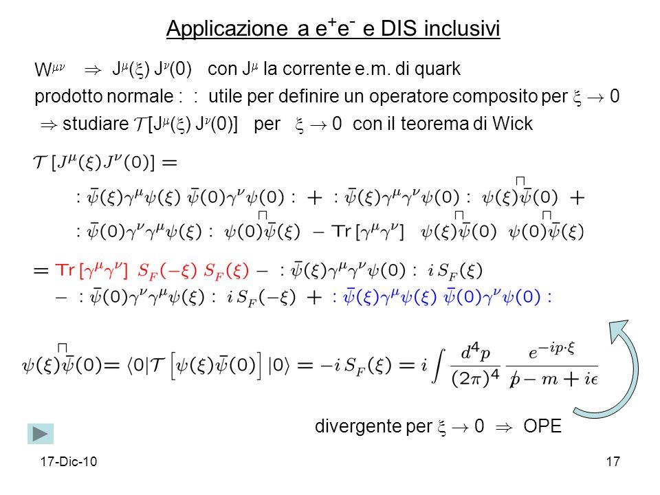 17-Dic-1017 W ) J ( ) J (0) con J la corrente e.m.