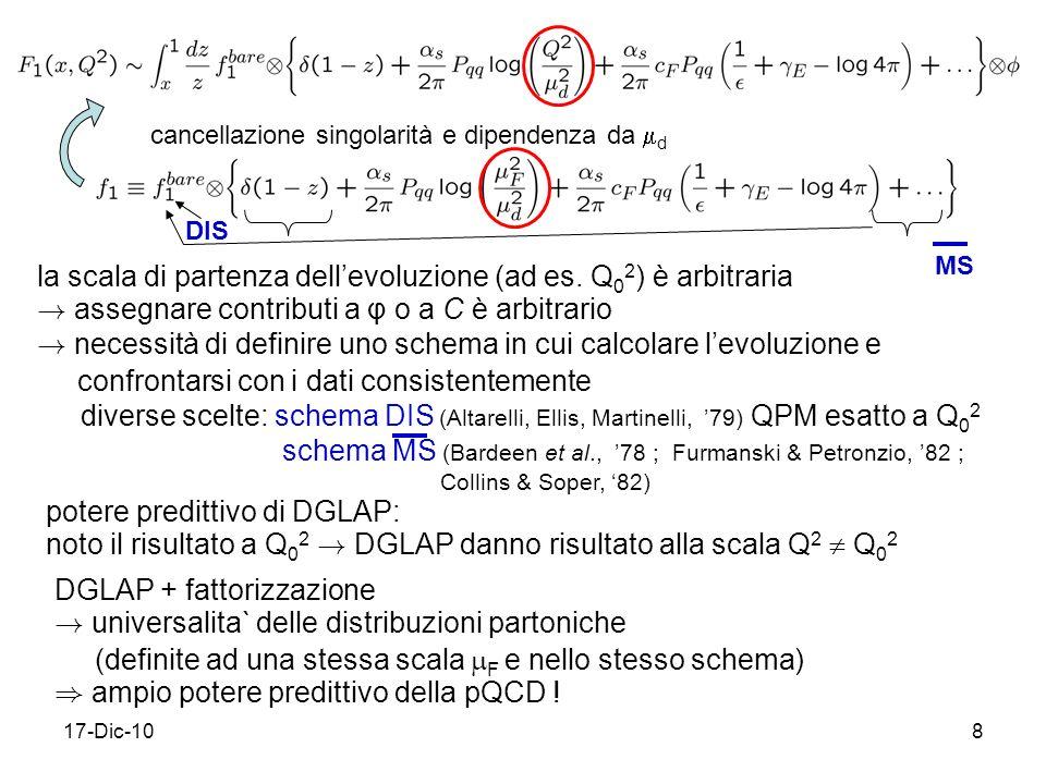 17-Dic-108 la scala di partenza dellevoluzione (ad es.