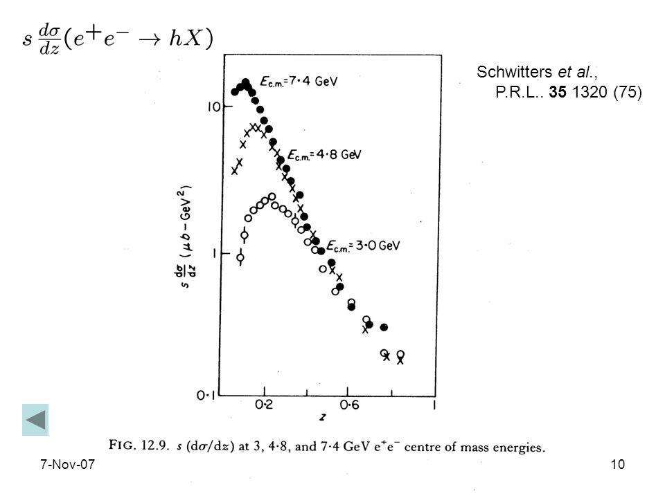 7-Nov-0710 Schwitters et al., P.R.L.. 35 1320 (75)