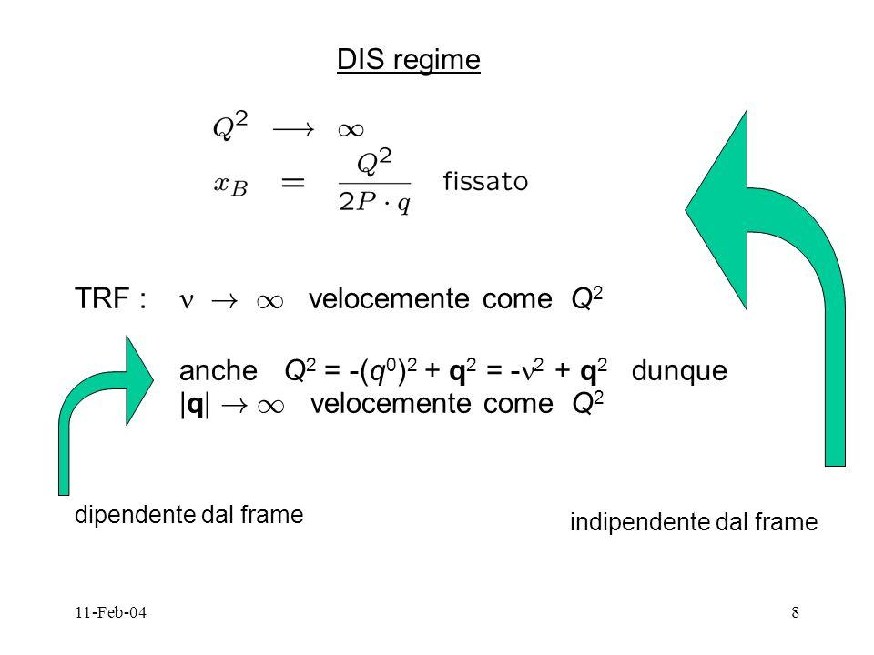 11-Feb-0419 Bersaglio = particella di Dirac libera con struttura 3 vettori indipendenti P, P, (+ invarianza per time-reversal, parita`..) conservazione della corrente q = 0 eq.