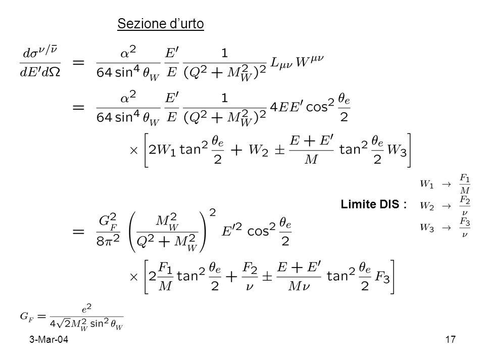 3-Mar-0417 Sezione durto Limite DIS :