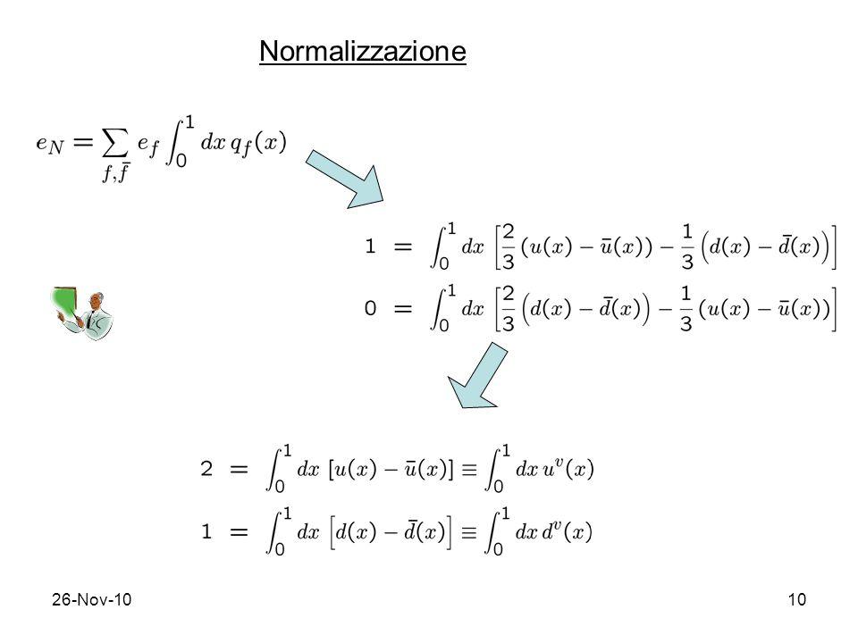 26-Nov-1010 Normalizzazione
