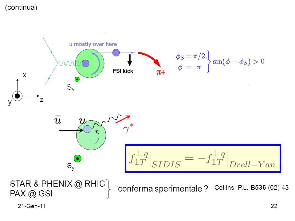 21-Gen-1122 (continua) x y z SySy SySy Collins P.L.