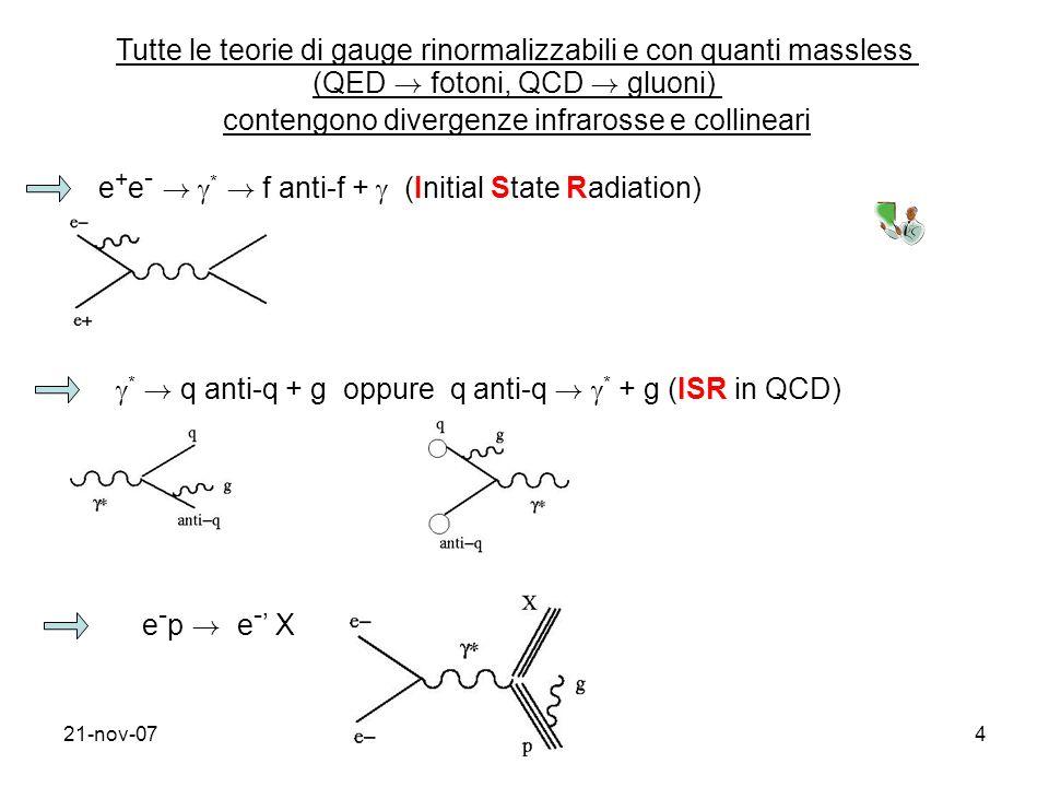 21-nov-075 DIS inclusivo correzioni con gluoni reali correzioni con gluoni virtuali