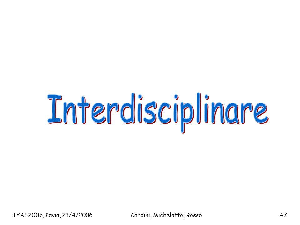 IFAE2006, Pavia, 21/4/2006Cardini, Michelotto, Rosso47