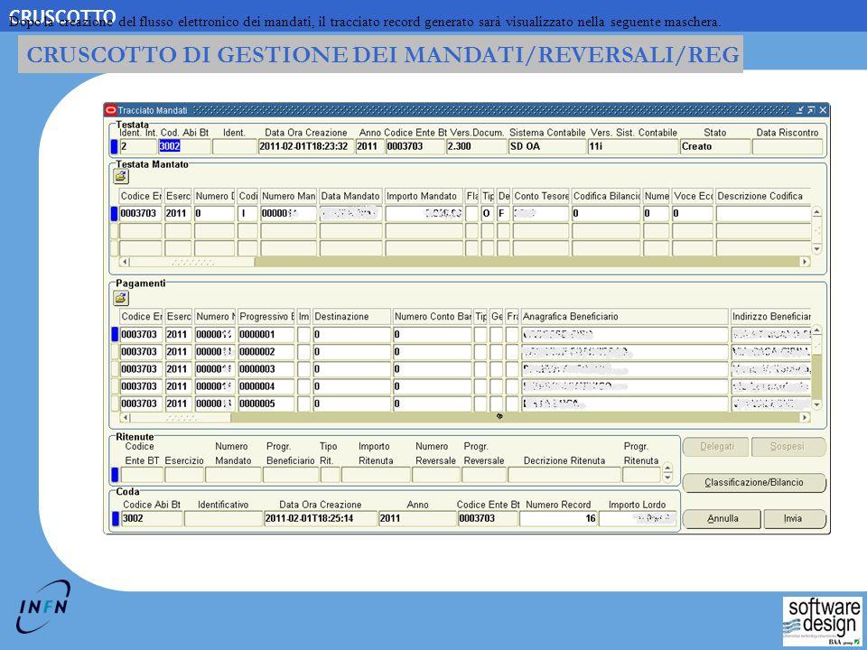 2-15 Copyright © 2006, Swdes. All rights reserved. CRUSCOTTO CRUSCOTTO DI GESTIONE DEI MANDATI/REVERSALI/REG Dopo la creazione del flusso elettronico