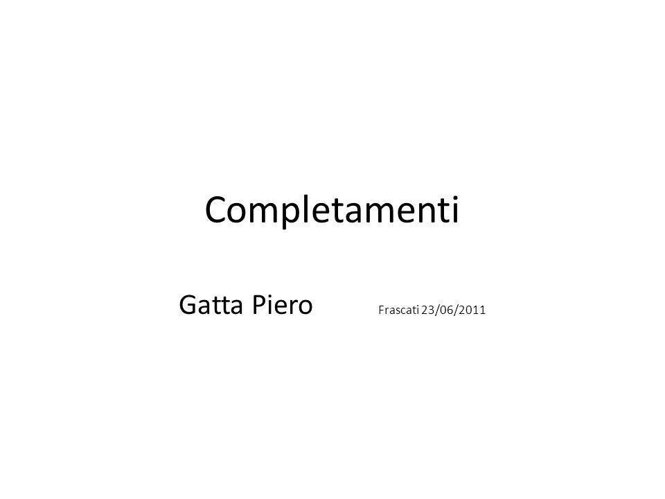 Completamenti Gatta Piero Frascati 23/06/2011