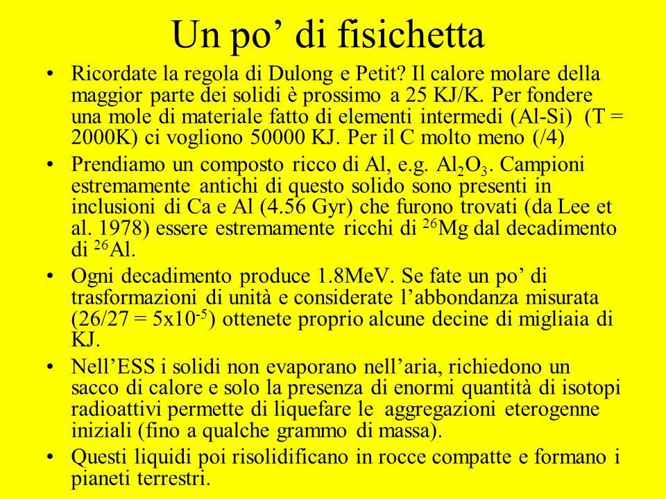 Evidenza della presenza di 41 Ca in composti ricchi di Al (Srinivasan et al. 1995)