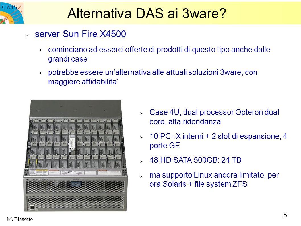 5 M. Biasotto Alternativa DAS ai 3ware? server Sun Fire X4500 cominciano ad esserci offerte di prodotti di questo tipo anche dalle grandi case potrebb