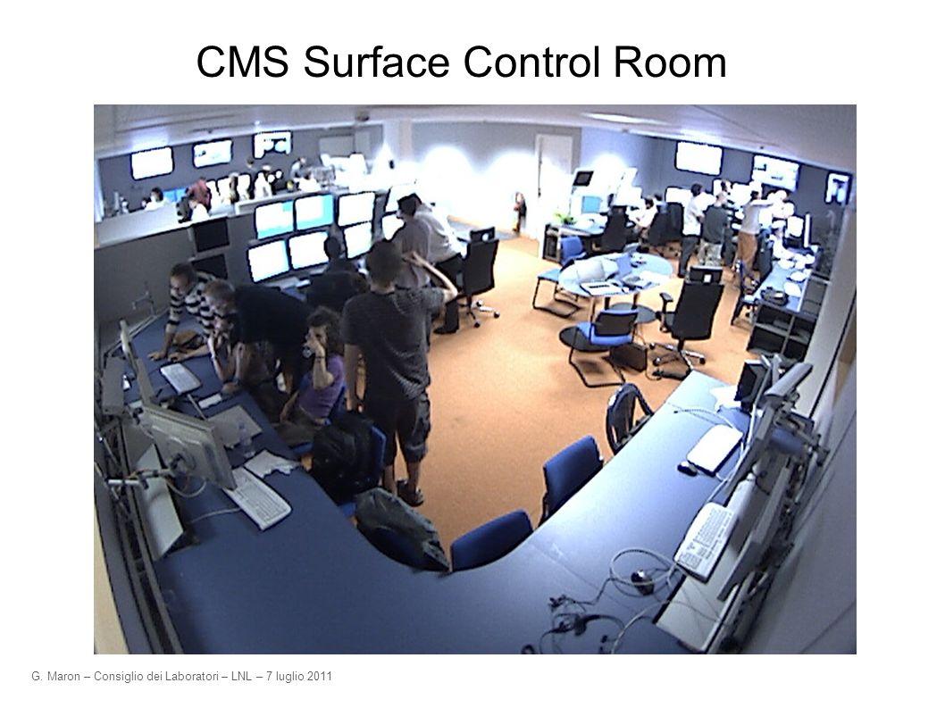 G. Maron – Consiglio dei Laboratori – LNL – 7 luglio 2011 CMS Surface Control Room