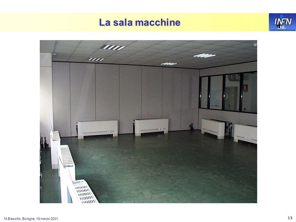 LNL M.Biasotto, Bologna, 19 marzo 2001 13 La sala macchine