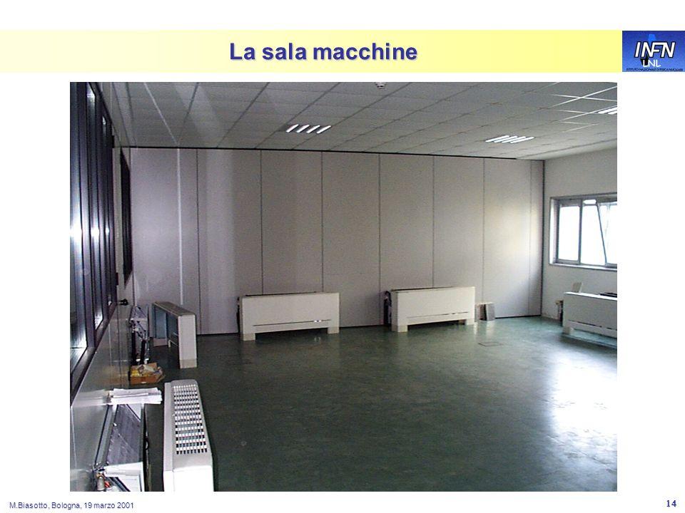 LNL M.Biasotto, Bologna, 19 marzo 2001 14 La sala macchine
