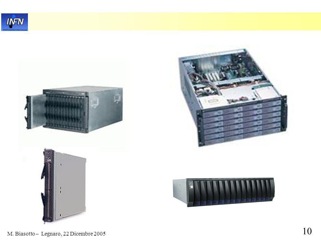 9 M. Biasotto – Legnaro, 22 Dicembre 2005 Prototipo T2: 2005 no upgrade hardware dismissione vecchie macchine piccolo upgrade adesso per inizio 2006: