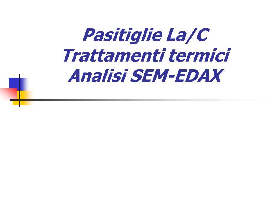 Pasitiglie La/C Trattamenti termici Analisi SEM-EDAX
