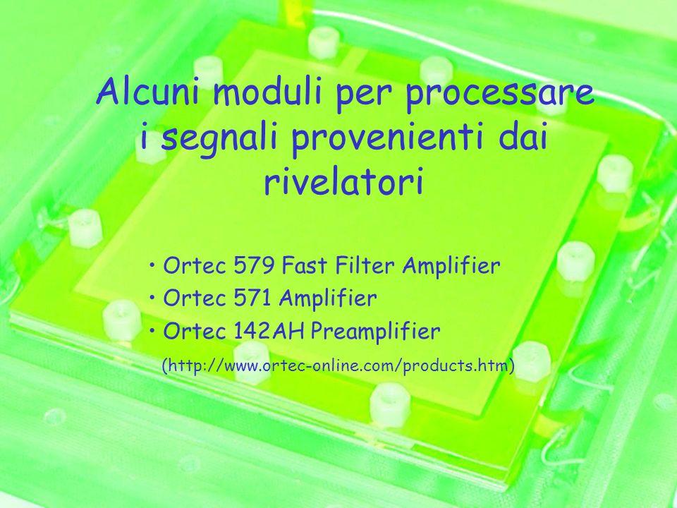 Alcuni moduli per processare i segnali provenienti dai rivelatori Ortec 579 Fast Filter Amplifier Ortec 571 Amplifier Ortec 142AH Preamplifier (http:/