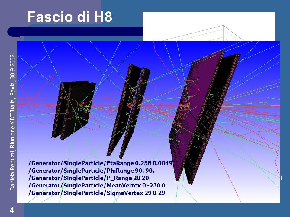 Daniela Rebuzzi, Riunione MDT Italia, Pavia, 30.9.2002 5 Distribuzione degli hit Valutazione della distribuzione spaziale degli hits nel primo layer della BML Distribuzione normalizzata - G4 * data