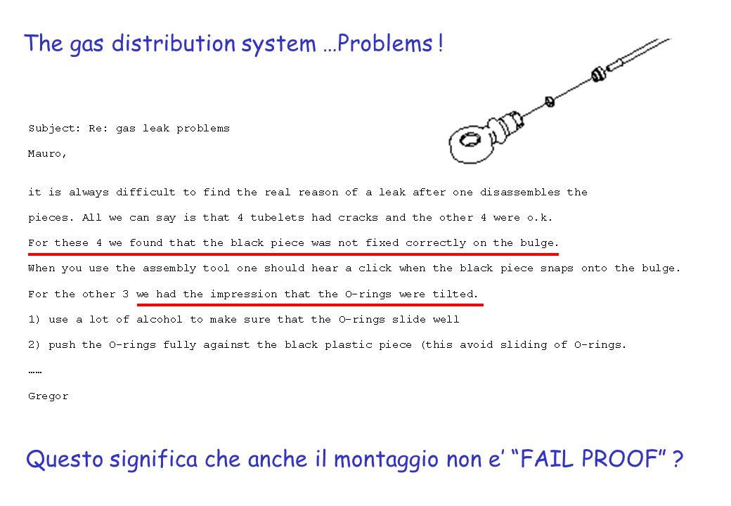 The gas distribution system …Problems ! Questo significa che anche il montaggio non e FAIL PROOF