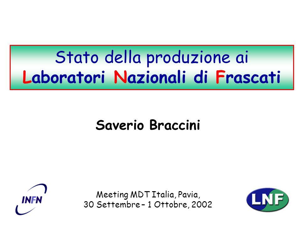 S. BracciniStato della produzione ai LNF 12 Stabilità dell in-plane