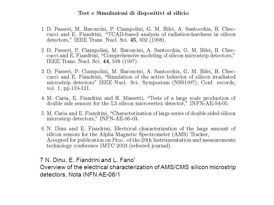 7 N. Dinu, E. Fiandrini and L.