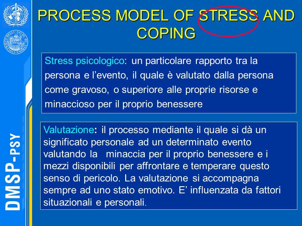 Stress psicologico: un particolare rapporto tra la persona e levento, il quale è valutato dalla persona come gravoso, o superiore alle proprie risorse