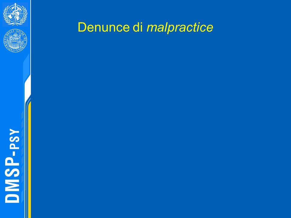 Denunce di malpractice