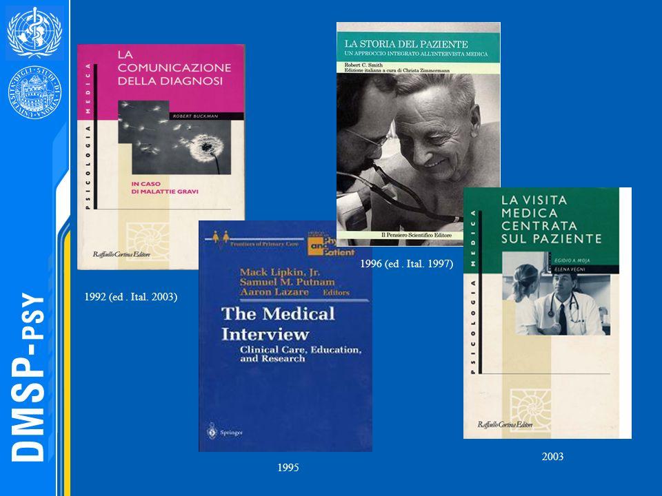 1992 (ed. Ital. 2003) 1996 (ed. Ital. 1997) 1995 2003