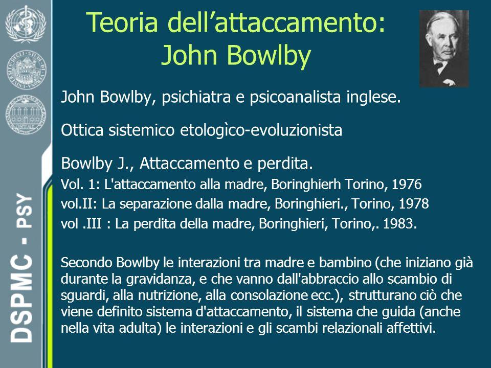 Teoria dellattaccamento: John Bowlby John Bowlby, psichiatra e psicoanalista inglese.