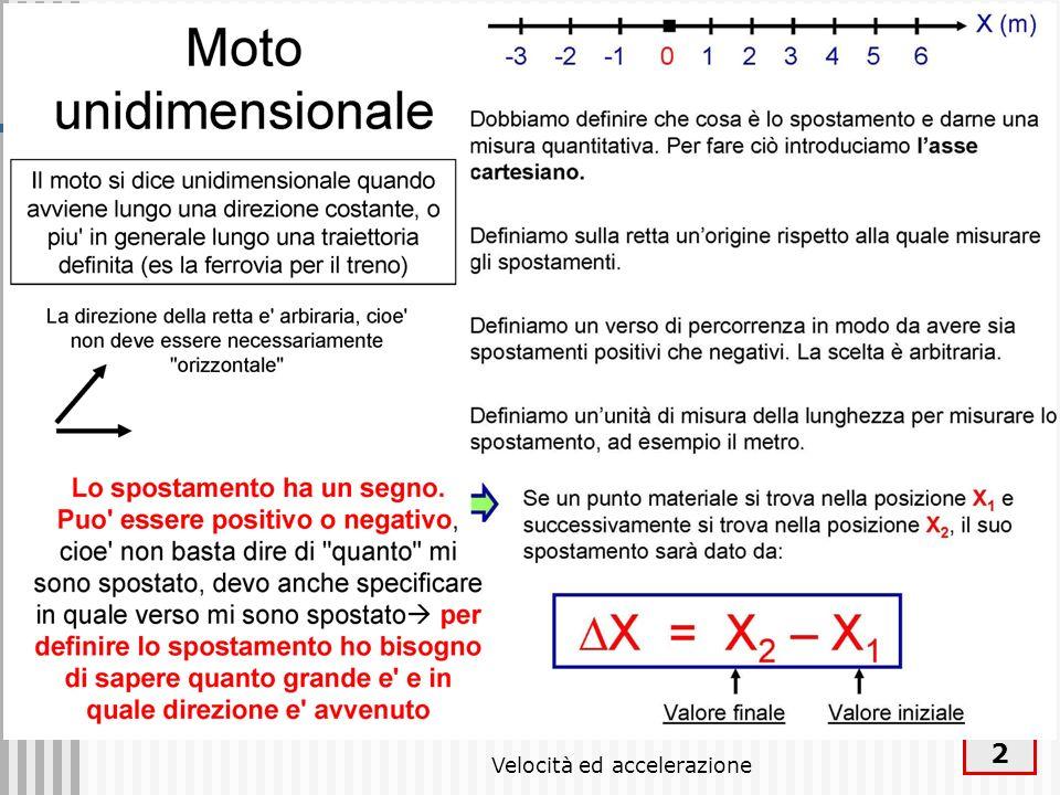 Velocità ed accelerazione 2