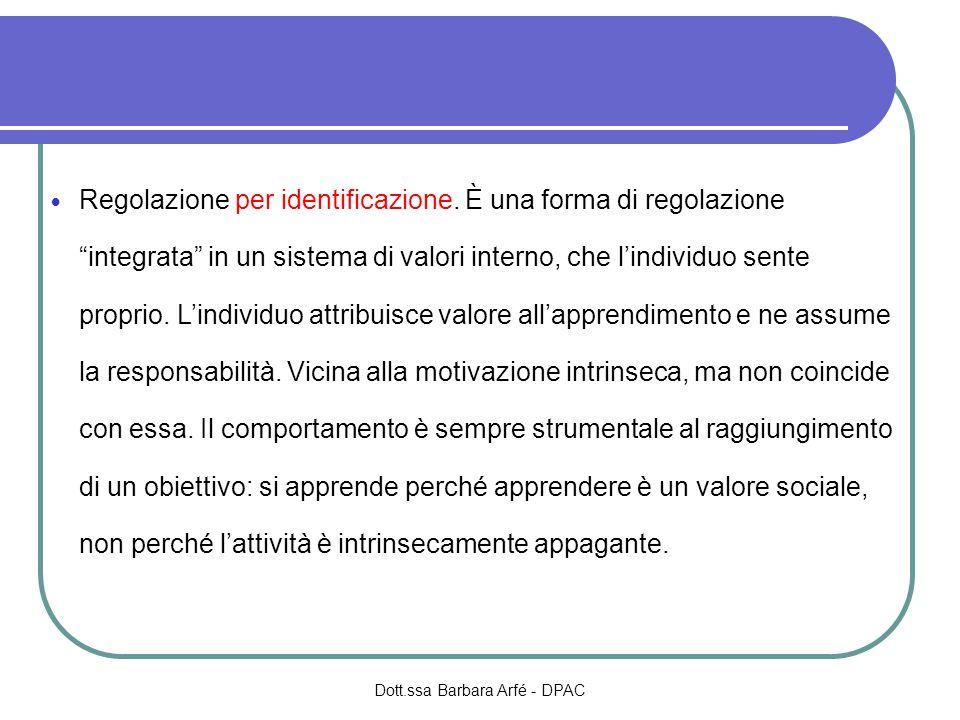 Regolazione per identificazione.
