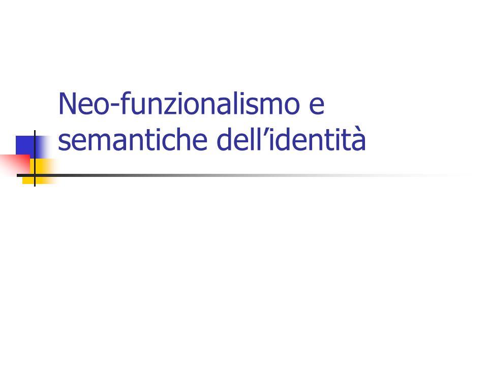 Neo-funzionalismo e semantiche dellidentità