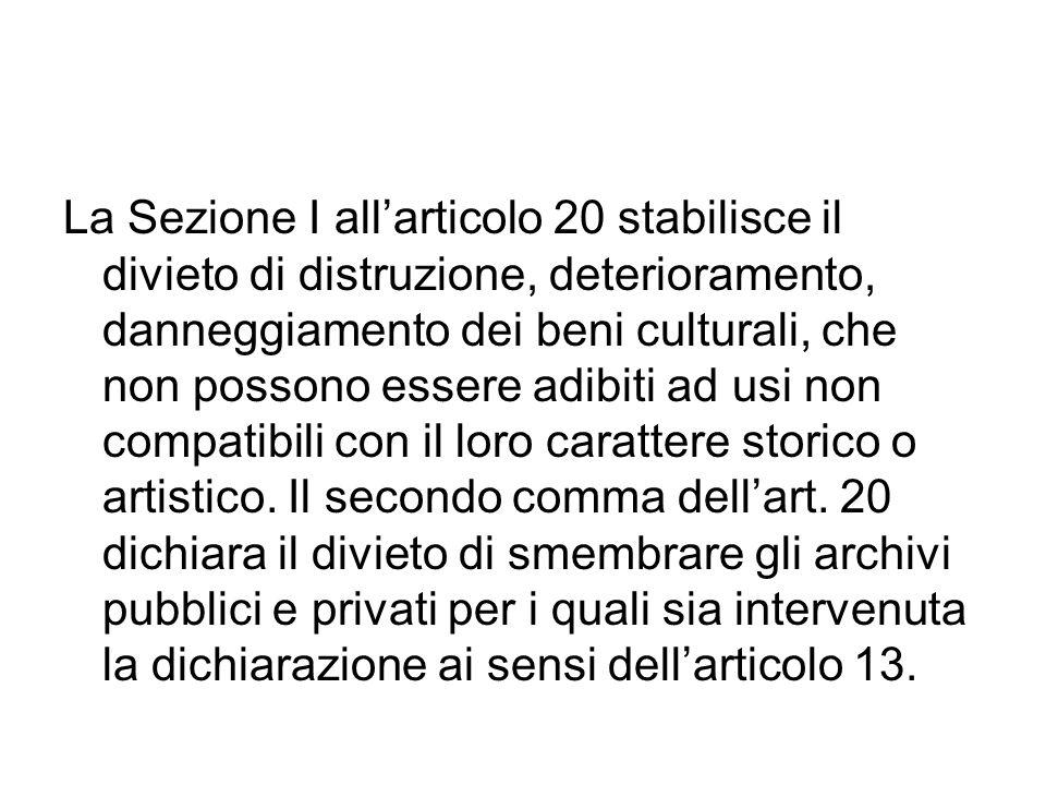 Sezione II Misure di conservazione Art.