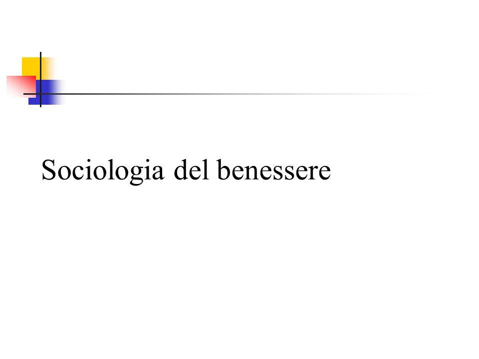Sociologia del benessere
