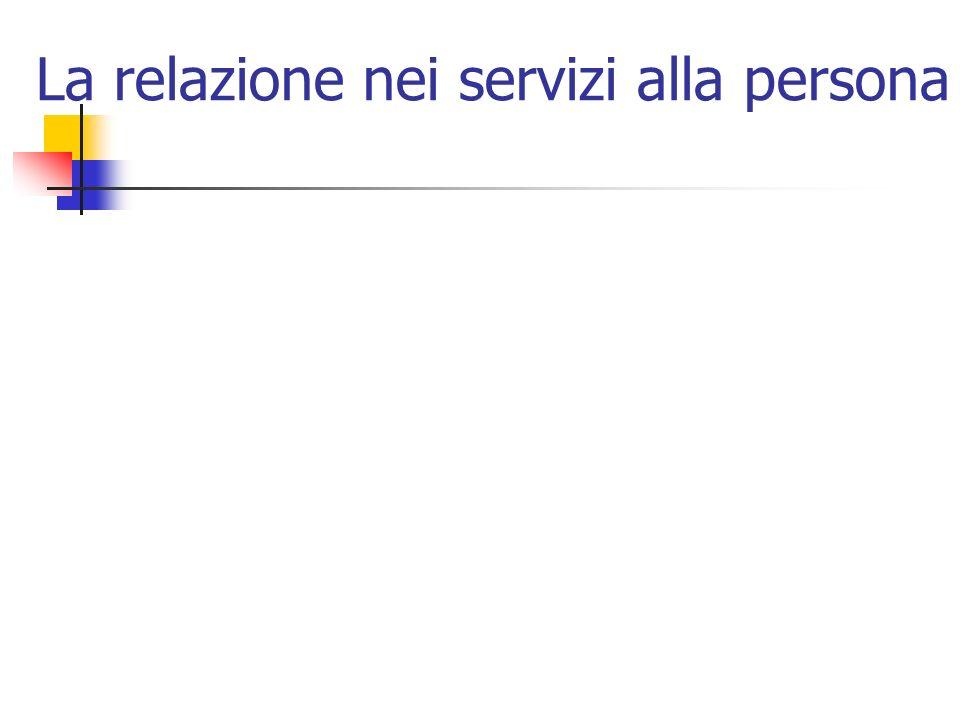 La relazione nei servizi alla persona