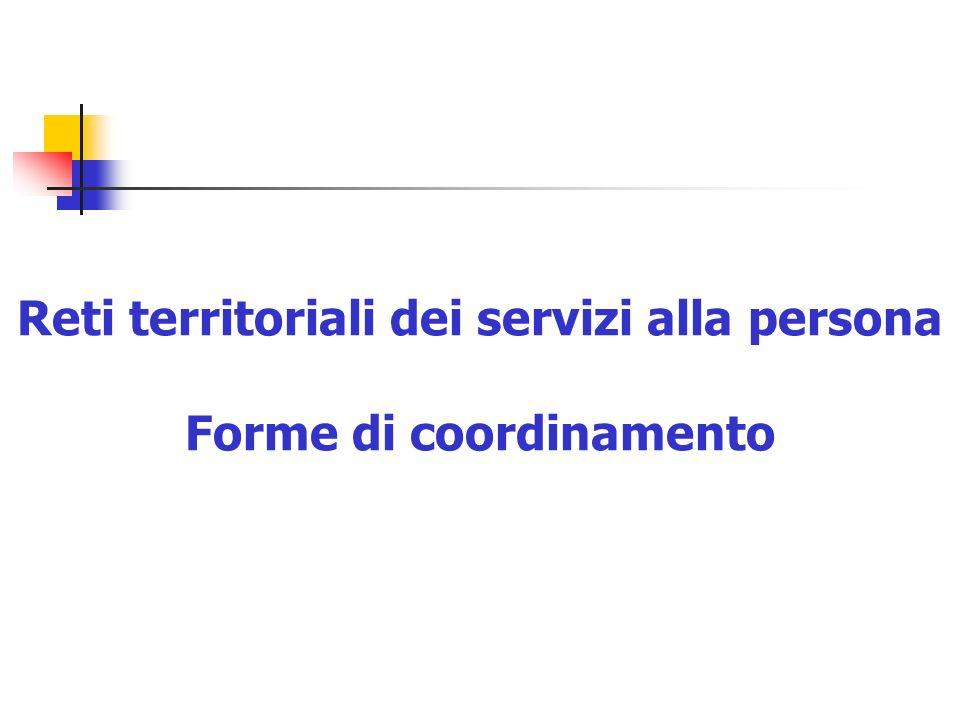 Sandro StanzaniReti pubblico/privato in sanità37 Reti territoriali dei servizi alla persona Forme di coordinamento