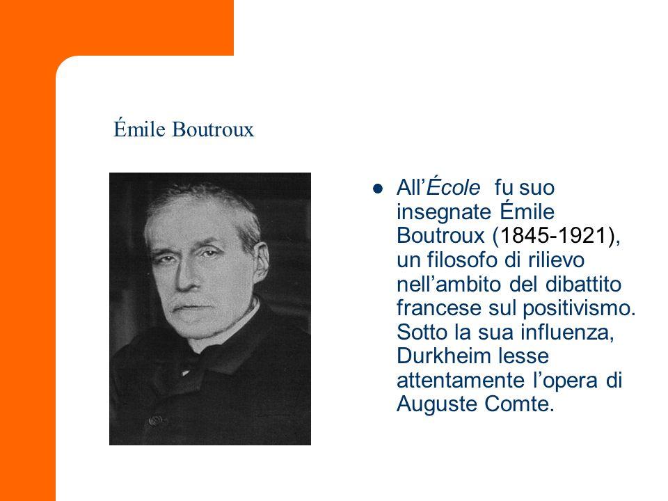 AllÉcole fu suo insegnate Émile Boutroux (1845-1921), un filosofo di rilievo nellambito del dibattito francese sul positivismo. Sotto la sua influenza