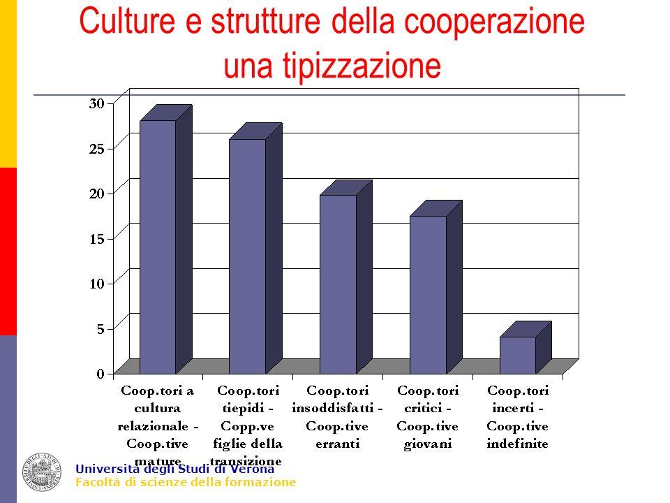 Università degli Studi di Verona Facoltà di scienze della formazione Culture e strutture della cooperazione una tipizzazione