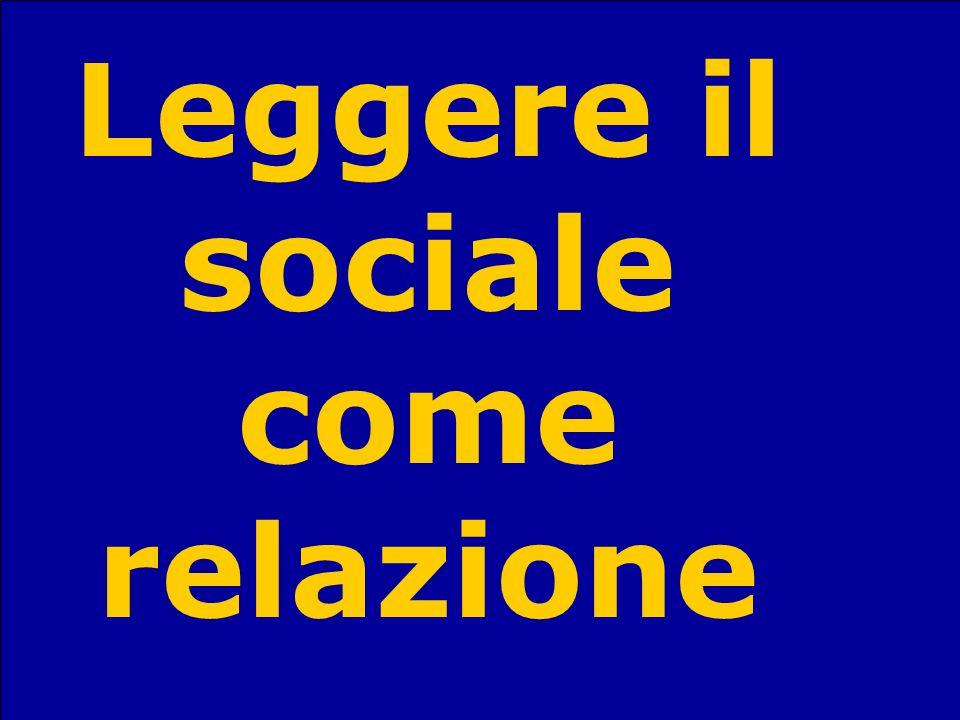 Sandro StanzaniSociologia del terzo settore43 Leggere il sociale come relazione
