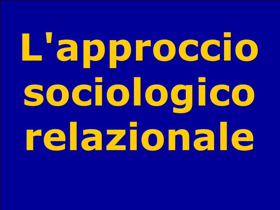 Sandro StanzaniSociologia del terzo settore60 L'approccio sociologico relazionale