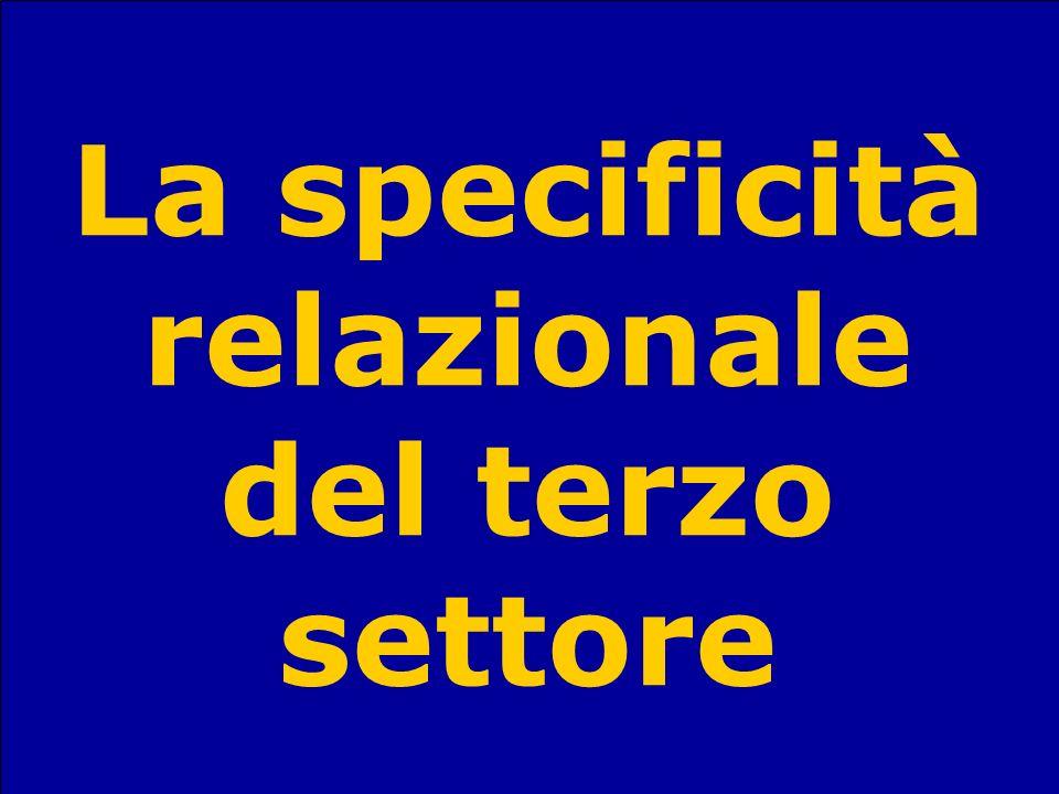 Sandro StanzaniSociologia del terzo settore71 La specificità relazionale del terzo settore