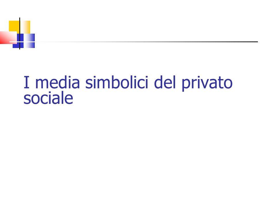 I media simbolici del privato sociale