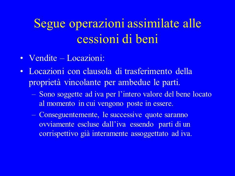 Cessioni gratuite Beni la cui produzione o scambio rientra nellattività propria dellimpresa: imponibilità assoluta.