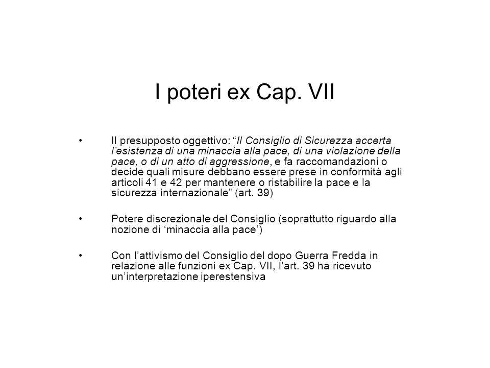I poteri ex Cap.
