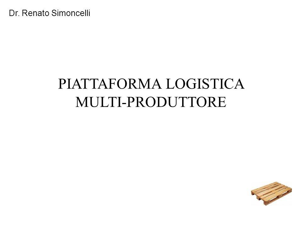 Dr. Renato Simoncelli PIATTAFORMA LOGISTICA MULTI-PRODUTTORE