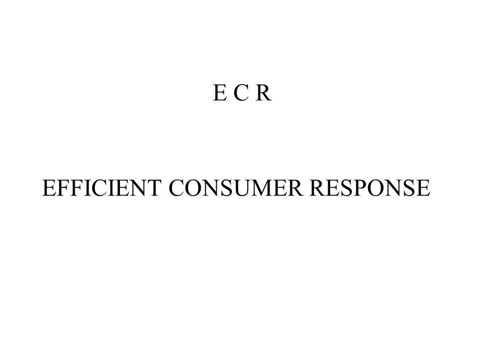 E C R EFFICIENT CONSUMER RESPONSE