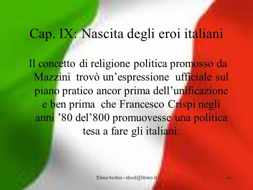 Elena Sodini - elsod@libero.it16 Cap.