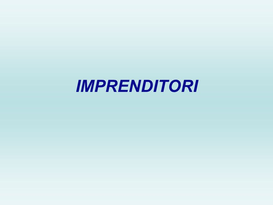 IMPRENDITORI